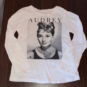 EUC Audrey Hepburn Size 5t L.S. Top